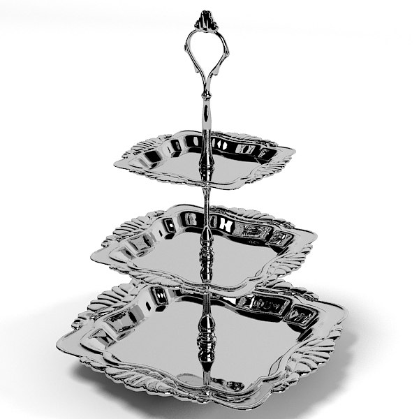 classic luxury 3 tier silver tray table accessories tableware vessel dishes dessert.jpg